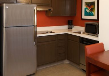 Residence Inn in Phoenix. You can prepare your own food or have room to store groceries!
